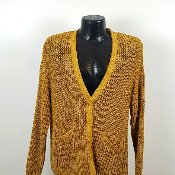 Zara v-neck cardigan buttons chunky size S